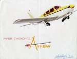 Piper Cherokee Arrow 180: The bow that puts this Arrow in orbit is the 180 HP Lycoming with Bendix Fuel Injection...