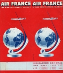 Air France - Timetable 1958: February 16 to March 31