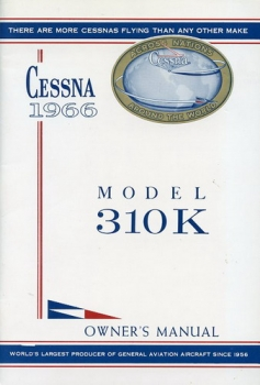 Cessna 1966 Model 310K Owner's Manual