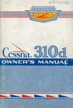 Cessna 310d Owner's Manual