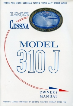 Cessna 1965 Model 310J Owner's Manual