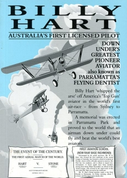 Billy Hart - Australia's First Licensed Pilot: Down Under's Greatest Pioneer Aviator also known as Parramatta's Flying Dentist