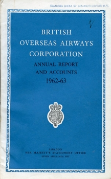 British Overseas Airways Corporation: Annual Report and Accounts 1962-63