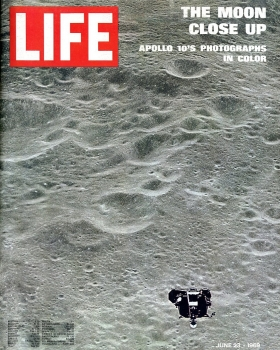 LIFE 1969-06-23: The Moon Close Up - Apollo 10's Photographs in Color