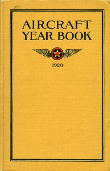 Aircraft Year Book 1920: issued by Manufacturers Aircraft Association