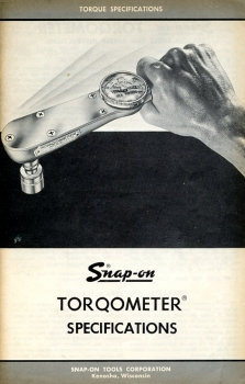Snap-on Torqometer Specifications