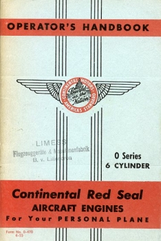Continental Red Seal Aircraft Engines for Your Personal Plane: Operator's Handbook - 6 Cylinder