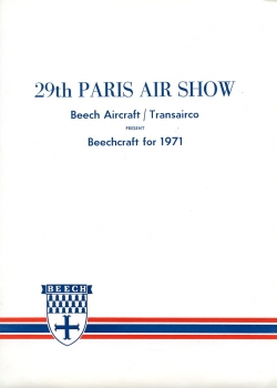 29th Paris Air Show - Beechcraft for 1971