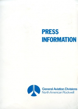 North American Rockwell - General Aviation Divisions: Press Information
