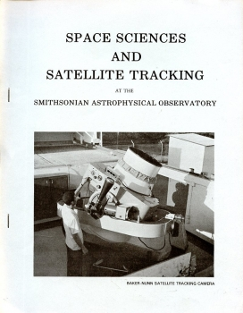 Space Sciences and Satellite Tracking: at the Smithonian Astrophysical Observatory