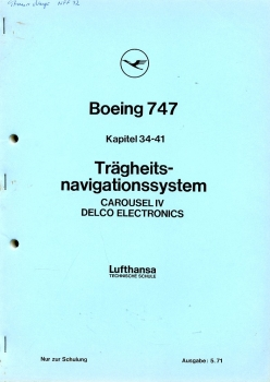 Boeing 747 - Trägheitsnavigationssystem Carousel IV Delco Electronics