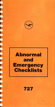 Boeing 727 - Abnormal and Emergency Checklists