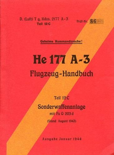 Antiquariat Lindbergh - He 177 A-3 Flugzeug-Handbuch: Teil 12C ...