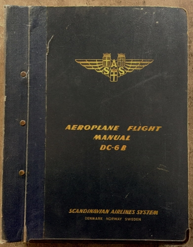 Aeroplane Flight Manual DC-6/6B: SAS Company Edition