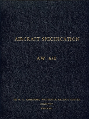 Argosy AW 650 Aircraft Specification