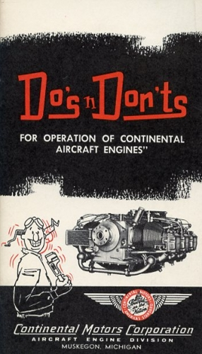 Do's n Don'ts of Operation for Continental Aircraft Engines