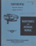 Maintenance and Overhaul Manual for Continental Motors Corporations Aircraft Engines Model O-470-A
