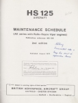 Hawker Siddeley Aviation HS 125 Aircraft: Maintenance Schedule - All series with Rolls-Royce Viper Engines