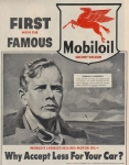 First with the Famous Mobiloil: Charles A. Lindbergh