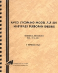 Avco Lycoming Model ALF-501 Hi-Bypass Turbofan Engine: Technical Brochure No. 1214.38.1
