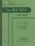 Instruction Book for Radio Type MS-92a Jack Box