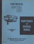 Maintenance and Overhaul Manual for Continental Motors Corporations Aircraft Engines Models O-470-A, B, E, J