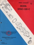 Continental Motors Corporation Aircraft Engines Model GTSIO-520-C: Parts Catalog