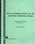 Avco Lycoming Model ALF-301 Hi-Bypass Turbofan Engine: Technical Brochure No. 1014.12.1