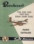 Beechcraft - Twin Bonanza F50 G50 H50 1957 D50 D50A D50B D50C: Illustrated Parts Catalog