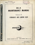 DC-4 Maintenance Manual - Volume III: Hydraulics and Landing Gear