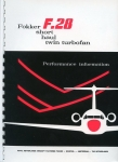Fokker F.28 short haul twin turbofan: Perfomance Information