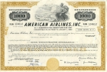 American Airlines: One Thouthand Dollars - 4 1/4 % Subordinated Debenture due 1992