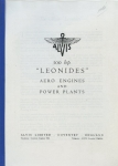 "Alvis 500 h.p. ""Leonides"" Aero Engines and Power Plants"