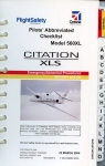 Citation XLS Model 560XL Pilots' Abbrevated Checklist: Emergency/Abnormal Procedures - 560-5501 and On - P/N 56XFMA-02