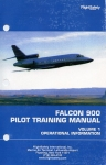 Falcon 900 Pilot Training Manual: Volume I