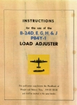 Instructions for the Use of the Load Adjuster for B-24D, E, G, H, & J, PB4Y-1