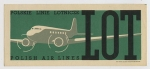 LOT Polish Air Lines - Baggage Sticker