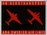 AB Aerotransport / A-B-A Swedish Air Lines - Baggage Sticker