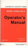 Continental Aircraft Engine Model GTSIO-520-H: Operator's Manual