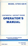 Continental Aircraft Engine Model GTSIO-520-N: Operator's Manual